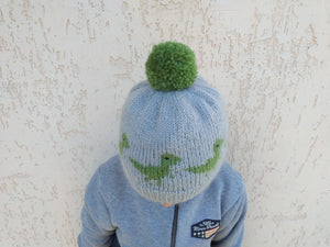 Knitted dinosaur hat one size fits all, halloween womens dinosaur hat
