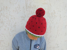 Load image into Gallery viewer, Hat watermelon for women, knitted hat halloween watermelon for women
