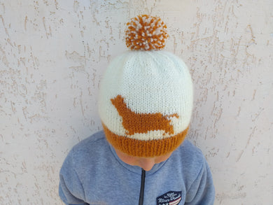 Dachshund hat for woman, knitted winter hat dachshund universal size