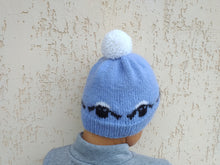 Load image into Gallery viewer, Rams knitted hat of universal size, ram hat for woman