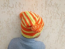 Load image into Gallery viewer, Women's Autumn Knitted Hat with Two Pom Poms, Teenage Knitted Hat with Pompoms