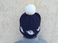 Load image into Gallery viewer, Halloween haunted hat for woman, ghost knitted hat for woman halloween