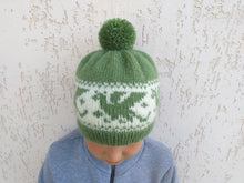Load image into Gallery viewer, Knitted hat dragons for woman with pompom