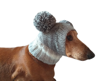 Load image into Gallery viewer, Knitted hat for dog with two large pompons