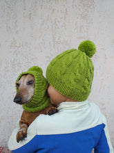 Load image into Gallery viewer, Mother and dog hats set, family hostess and dachshund hats set