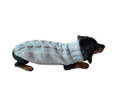 Clothes for small dachshund knitted sweater, sweater for chihuahua, sweater for yorkshire terrier, sweater for toy terrier