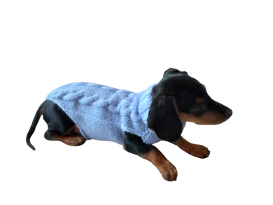 Small dog knitted sweater, sweater for small dachshund, sweater for chihuahua, sweater for yorkshire terrier, sweater for toy terrier