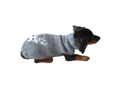 Christmas sweater with deer for small dogs, sweater deer for dog, christmas sweater with deer for little dachshund