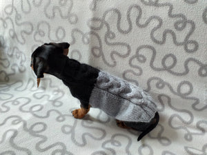 Lilac knitted wool jumper for dog, clothes for dachshund, sweater for dog, clothes for dog, sweater for small dogs, dachshund sweater