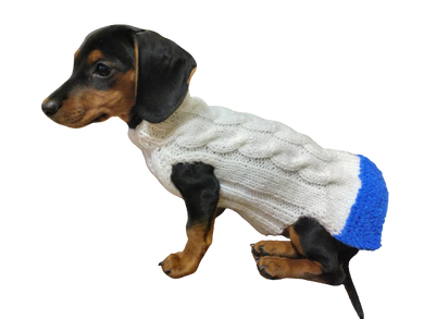 Christmas sweater with skirt for little dachshund, christmas clothes sweater for dog