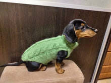 Load image into Gallery viewer, Dachshund clothes knitted sweater, knitted wool sweater for dachshund or small dog