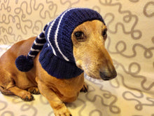 Load image into Gallery viewer, Winter Christmas clothes for dogs knitted hat with pompon, doxie clothes, doxie hat