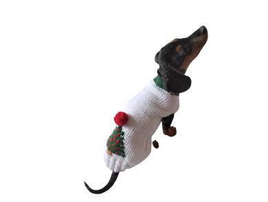 Christmas tree sweater for dog, christmas clothes for dog, sweater with christmas tree for dachshund