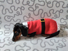 Load image into Gallery viewer, Christmas santa sweater for dogs, santa clothes for dog, santa sweater for dog, christmas for dogs, christmas santa sweater for dachshund