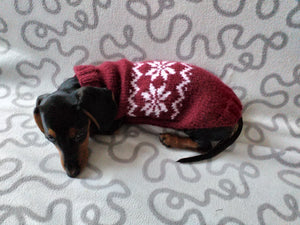 Christmas sweater with snowflake for dogs, sweater snowflake for dog, christmas sweater with snowflake for little dachshund