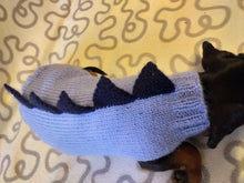 Load image into Gallery viewer, Dachshund dinosaur knitted sweater, dinosaur sweater for dogs, clothes dinosaur knitted sweater for dogs