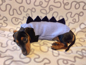 Dachshund dinosaur knitted sweater, dinosaur sweater for dogs, clothes dinosaur knitted sweater for dogs