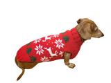 Christmas wool sweater with deer and snowflakes for dogs, sweater deer for dog, christmas sweater with deer for dachshund