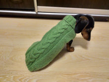 Load image into Gallery viewer, Classic Aran Knit Dog Sweater,Knitted jumper for small dogs, sweater for small dachshund, sweater for chihuahua, sweater for york terrier