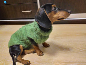 Classic Aran Knit Dog Sweater,Knitted jumper for small dogs, sweater for small dachshund, sweater for chihuahua, sweater for york terrier
