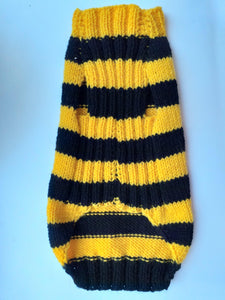 Bee knitted jumper for small dogs, bee sweater for dog, dachshund bee dog sweater