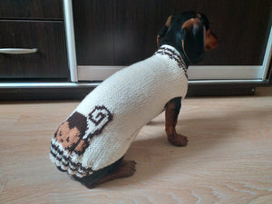 Sweater monkey for dog,Knitted sweater for dogs, clothes for dachshunds, sweater for dogs, clothes for dogs, sweater for small dogs
