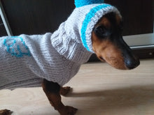 Load image into Gallery viewer, Dachshund Angel Costume Sweater and Hat,knitted dachshund clothes sweater and hat, dachshund suit sweater and hat