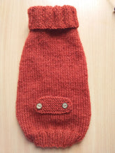 Load image into Gallery viewer, Clothes sweater for small dogs or dachshund puppy, knitted warm wool jumper for small dachshund