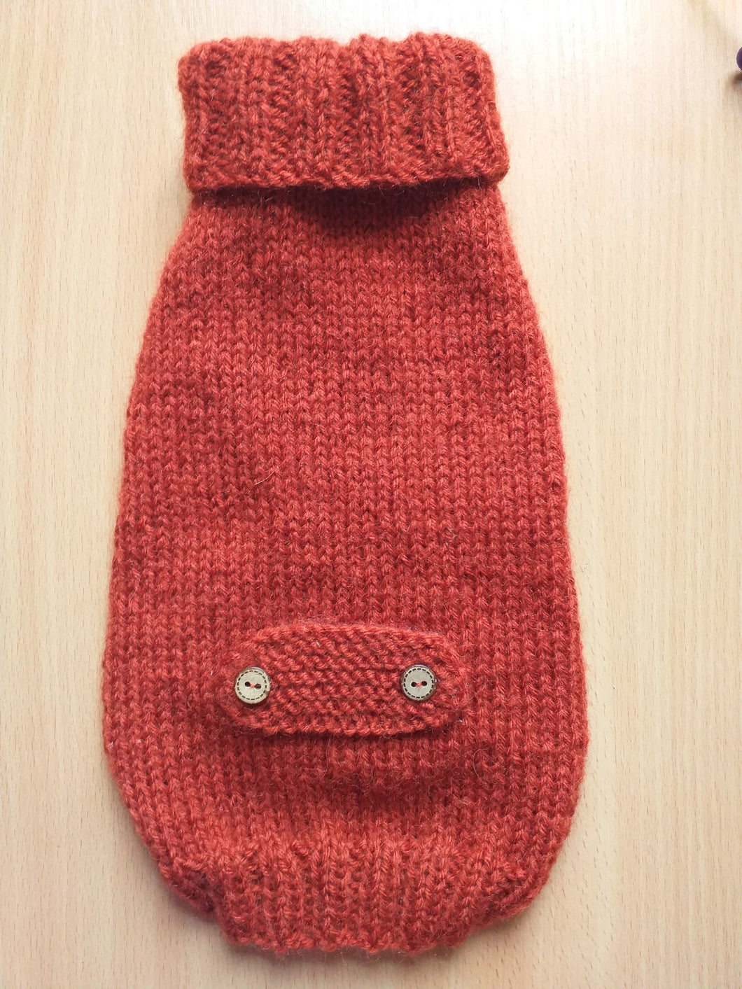 Clothes sweater for small dogs or dachshund puppy, knitted warm wool jumper for small dachshund