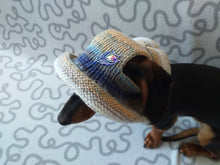 Load image into Gallery viewer, Summer sun hat for dog, summer accessory for dog, hat for dog, gift for dog, summer clothes dog headwear, dog hat