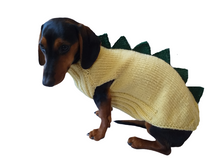 Load image into Gallery viewer, Dog dinosaur knitted clothes sweater, dinosaur sweater for dogs, original dog clothes dinosaur sweater