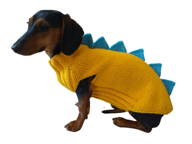 Dino dog clothes, sweater dinosaur for small dogs, zoo dog clothes dinosaur