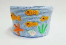 Load image into Gallery viewer, Knitted basket sea voyage