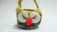 Load image into Gallery viewer, Owl knitted basket