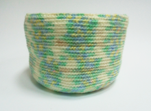 Load image into Gallery viewer, Knitted basket for needlework
