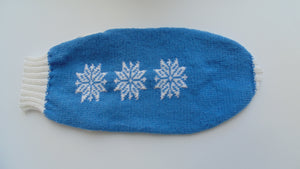 Christmas knitted sweater with snowflakes for dog
