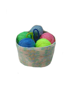 Knitted basket for needlework