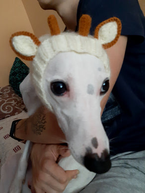 Whippet hat snood giraffe knitted clothes