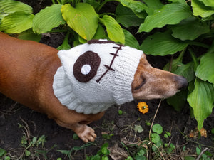 Cap monster ghost halloween for small dachshund dog - dachshundknit