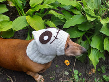 Load image into Gallery viewer, Cap monster ghost halloween for small dachshund dog - dachshundknit