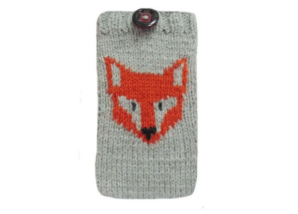 Case for smartphone Fox, Phone Case,Sweater for phone - dachshundknit