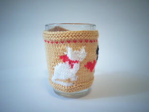 Cat sweater for cup, Knitted cup sweater one to choose - dachshundknit