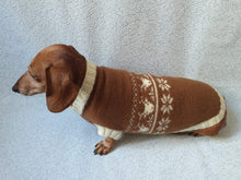 Load image into Gallery viewer, Christmas Dachshund Deer Sweater - dachshundknit