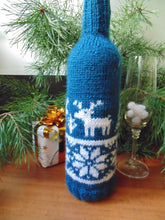 Load image into Gallery viewer, Christmas bottle cover, Christmas bottle decoration,Decor Bottle, Wine Accessories, Knitted bottle,Wine Decor Crochet Bottle Bottle Sweater - dachshundknit