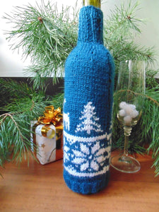 Christmas bottle cover, Christmas bottle decoration,Decor Bottle, Wine Accessories, Knitted bottle,Wine Decor Crochet Bottle Bottle Sweater - dachshundknit