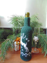 Load image into Gallery viewer, Christmas bottle cover, Christmas bottle decoration, Christmas present, New Year gift, Christmas table, Bottle decoration - dachshundknit