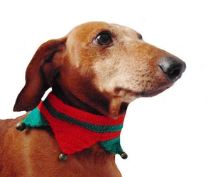 Christmas dog or cat collar - dachshundknit