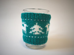 Christmas knitted deer cup cover,Knitted sweater cup one to choose from - dachshundknit