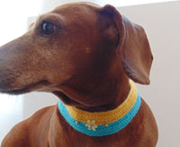 Collar for dog or cat, knitted collar for dog, collar for cat, decoration of dog, decorative collar, gift collar dog - dachshundknit