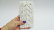 Load image into Gallery viewer, Knitted phone case,Phone Case, Smartphone Case, iPhone Case, Knitted Case, Handmade Case,phone accessory, phone holder,case for phone